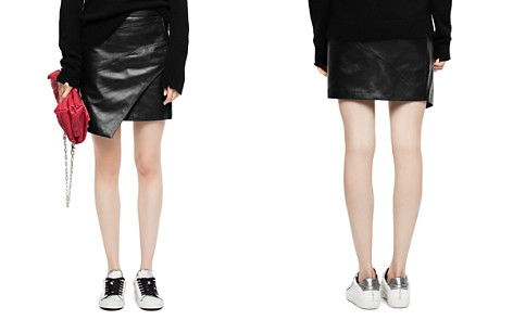 Zadig & Voltaire Just Leather Mini Skirt - Bloomingdale's_2