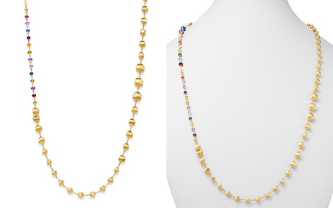 "Marco Bicego 18K Yellow Gold Africa Amethyst, London Blue Topaz, Blue Topaz, Citrine, Peridot, Garnet & Pink Tourmaline Convertible Necklace, 36"" - Bloomingdale's_2"