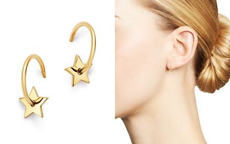 Zoë Chicco 14K Yellow Gold Small Star Washer Huggie Hoop Earrings - Bloomingdale's_2