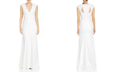 HALSTON HERITAGE Ruched Cutout Crepe Gown - Bloomingdale's_2