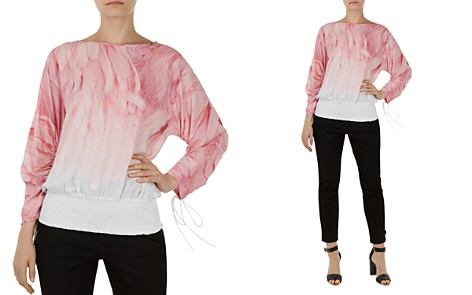 Ted Baker Avvi Angel Falls Ruched-Sleeve Top - Bloomingdale's_2