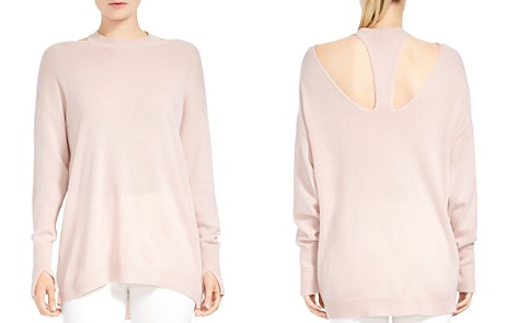 HALSTON HERITAGE Merino Wool & Cashmere Cutout Sweater - Bloomingdale's_2