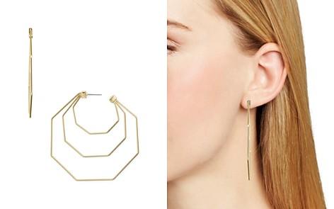 Rebecca Minkoff Triple Hexagonal Drop Earrings - Bloomingdale's_2