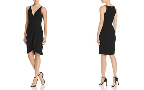 AQUA Side-Drape V-Neck Dress - 100% Exclusive - Bloomingdale's_2
