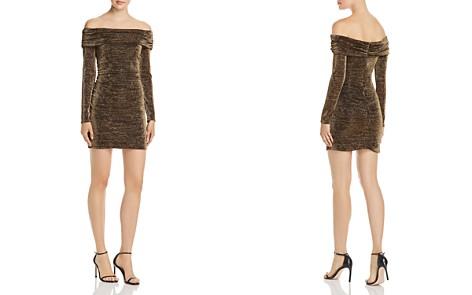 Rachel Zoe Blake Off-the-Shoulder Shimmer Mini Dress - 100% Exclusive - Bloomingdale's_2