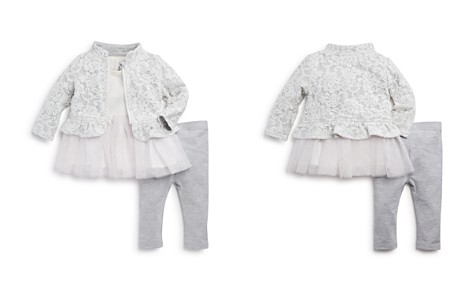 Miniclasix Girls' Lace Jacket, Tutu Top & Leggings Set - Baby - Bloomingdale's_2