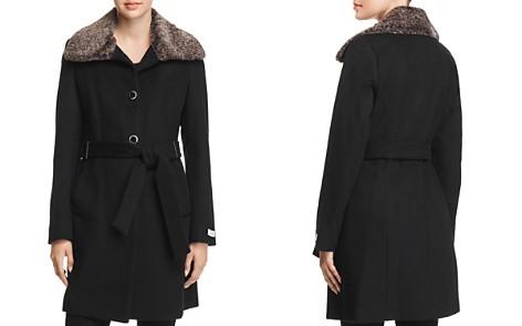 Calvin Klein Faux Fur Wing Collar Coat - Bloomingdale's_2
