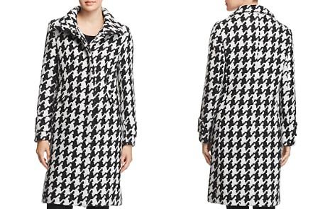 Calvin Klein Houndstooth Coat - Bloomingdale's_2