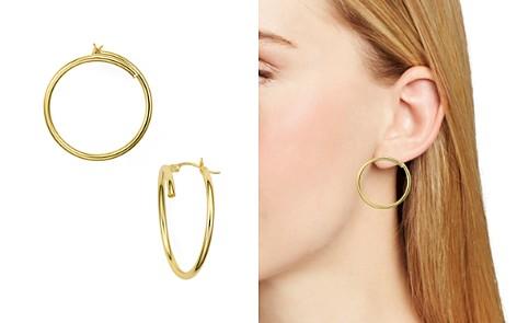AQUA Bypass Hoop Earrings in 18K Gold-Plated Sterling Silver - 100% Exclusive - Bloomingdale's_2