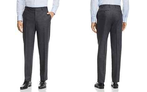 Canali Melange Flannel Classic Fit Dress Pants - Bloomingdale's_2