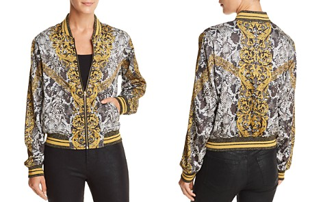 GUESS Rae Baroque Snake Print Bomber Jacket - Bloomingdale's_2