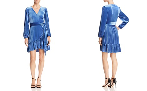 Rebecca Minkoff Karis Ruffled Velvet Wrap Dress - Bloomingdale's_2