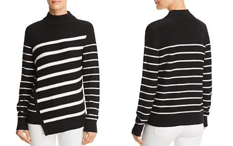 AQUA Asymmetric Striped Sweater - 100% Exclusive - Bloomingdale's_2