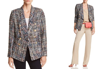 AQUA Tweed Double-Breasted Blazer - 100% Exclusive - Bloomingdale's_2