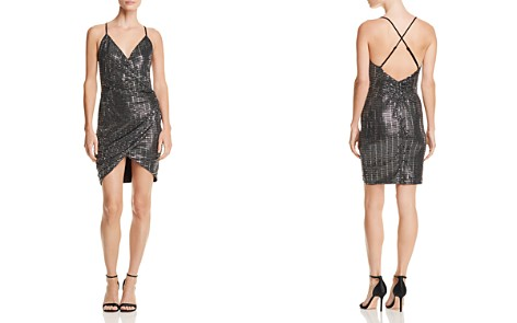 AQUA LUXE Capsule Embellished Ruched Dress - 100% Exclusive - Bloomingdale's_2