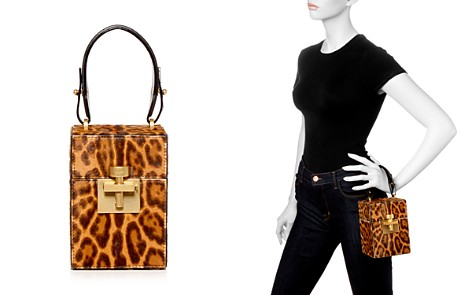 Oscar de la Renta Alibi Leopard Print Calf Hair Top Handle Box Bag - Bloomingdale's_2