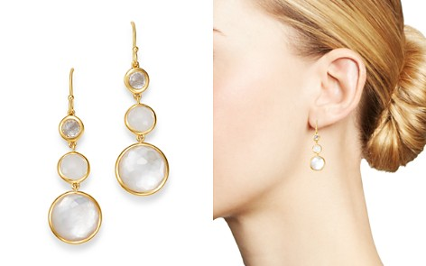 IPPOLITA 18K Yellow Gold Lollipop Clear Quartz, White Moonstone & Clear Quartz over Mother-Of-Pearl Doublet Three-Stone Drop Earrings - Bloomingdale's_2