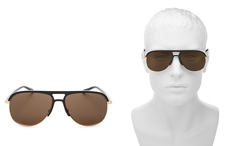 Gucci Men's Flat Top Aviator Sunglasses, 60mm - Bloomingdale's_2