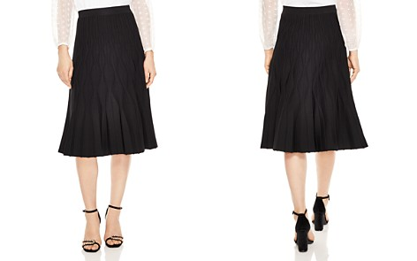 Sandro Henzo Textured Midi Skirt - Bloomingdale's_2
