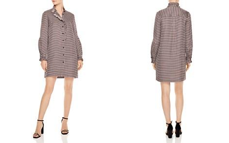 Sandro Music Ruffled Geo-Print Shirt Dress - Bloomingdale's_2