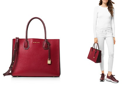 MICHAEL Michael Kors Mercer Large Contrast Leather Tote - Bloomingdale's_2