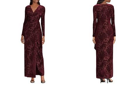 Lauren Ralph Lauren Flocked Faux-Wrap Gown - 100% Exclusive - Bloomingdale's_2