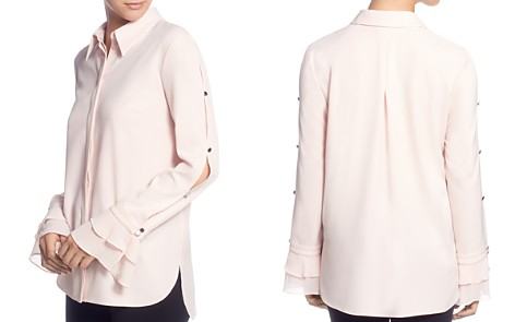 T Tahari Split-Sleeve Shirt - Bloomingdale's_2