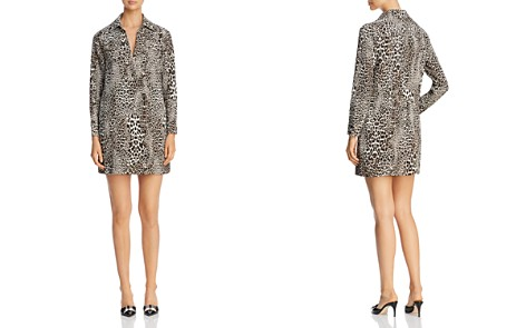 Badgley Mischka Leopard Print Shirt Dress - 100% Exclusive - Bloomingdale's_2