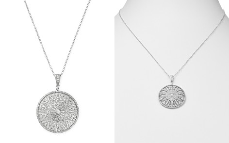Bloomingdale's Diamond Pavé Cut-Out Pendant Necklace in 14K White Gold, 1.0 ct. t.w. - 100% Exclusive_2