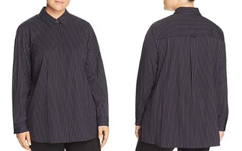 Lafayette 148 New York Plus Bray Pinstriped Button-Down Blouse - Bloomingdale's_2