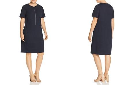 Lafayette 148 New York Plus Demi Partial-Zip Paneled Dress - Bloomingdale's_2