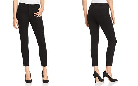 J Brand Alana Velvet Corduroy High Rise Jeans in Black - Bloomingdale's_2