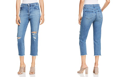 J Brand Wynne Cropped Straight Jeans in Naive Destruct - Bloomingdale's_2