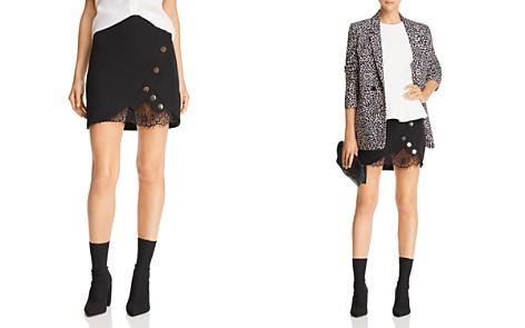 JOA Lace-Trimmed Tulip Mini Skirt - Bloomingdale's_2