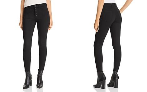 Just Black Denim High-Rise Cropped Skinny Jeans in Black - Bloomingdale's_2