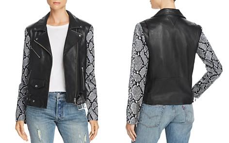 Veda Jayne Mixed-Print Leather Moto Jacket - 100% Exclusive - Bloomingdale's_2