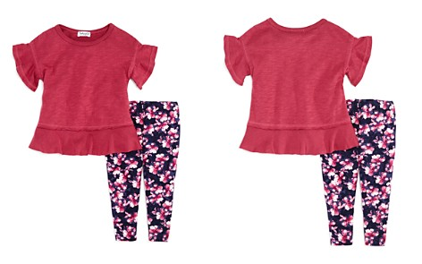 Splendid Girls' Ruffled Tee & Floral Leggings Set - Baby - Bloomingdale's_2