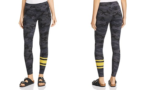 Sundry Stripe Detail Camo Leggings - Bloomingdale's_2