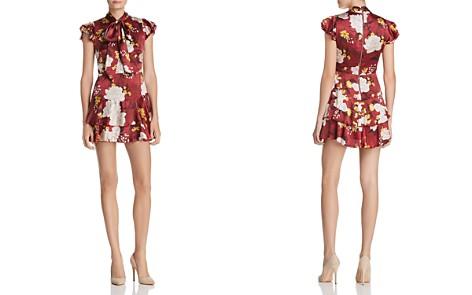 Alice + Olivia Lashay Tie-Neck Ruffled Silk Dress - Bloomingdale's_2