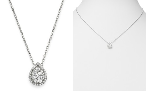 Bloomingdale's Diamond Teardrop Halo Pendant Necklace in 14K White Gold, 0.3 ct. t.w. - 100% Exclusive_2