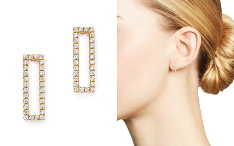 Bloomingdale's Diamond Rectangle Drop Earrings in 14K Yellow Gold, 0.20 ct. t.w. - 100% Exclusive_2