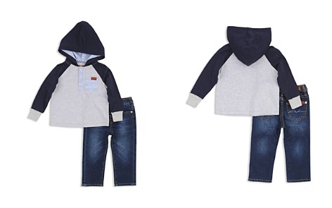 7 For All Mankind Boys' Hooded Henley Shirt & Skinny Jeans Set - Baby - Bloomingdale's_2