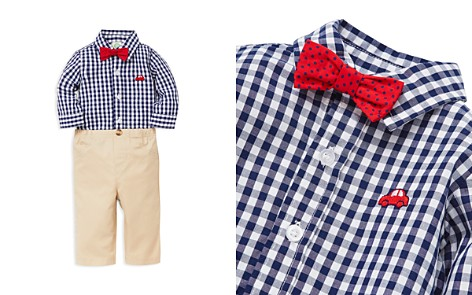 Little Me Boys' Red Car Checkered Bodysuit, Pants & Bow Tie Set - Baby - Bloomingdale's_2
