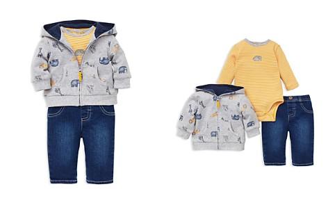 Little Me Girls' Jungle Animal-Print Hoodie, Striped Elephant Bodysuit & Jeans Set - Baby - Bloomingdale's_2