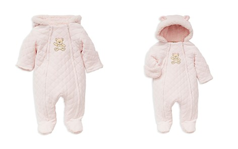 Little Me Girls' Faux-Fur Hooded Teddy Bear Footie Jacket - Baby - Bloomingdale's_2