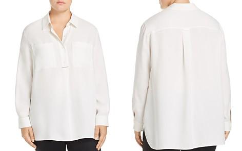 Lafayette 148 New York Plus Prianka Silk Blouse - Bloomingdale's_2