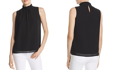 KARL LAGERFELD Lace-Inset Mock-Neck Top - Bloomingdale's_2