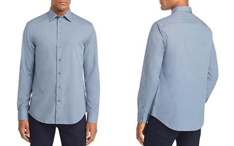 Emporio Armani Blue Multi-Check Sport Shirt - Bloomingdale's_2