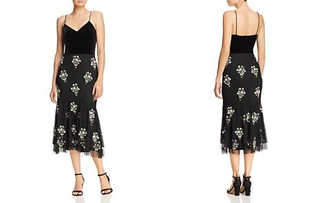 Adrianna Papell Velvet Bodice Beaded Dress - Bloomingdale's_2