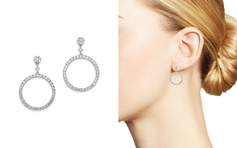 Bloomingdale's Diamond Round Geometric Drop Earrings in 14K White Gold, 1.0 ct. t.w. - 100% Exclusive_2